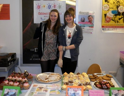 cake sale Chantalle and Codie